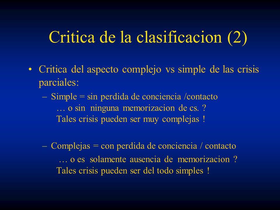 Critica de la clasificacion (2)