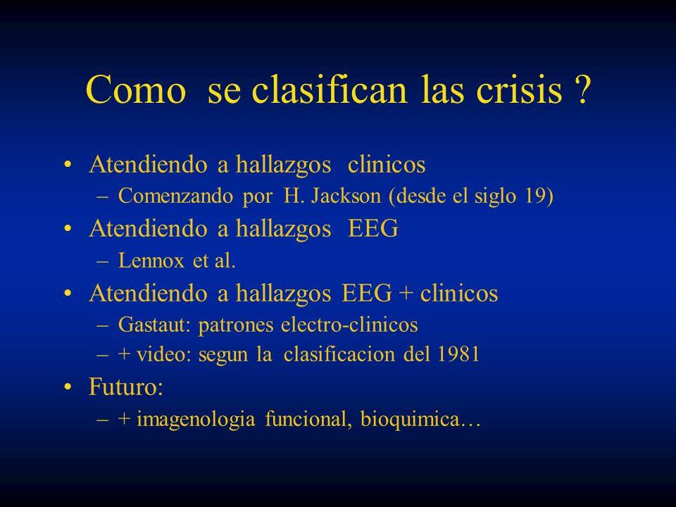 Como se clasifican las crisis