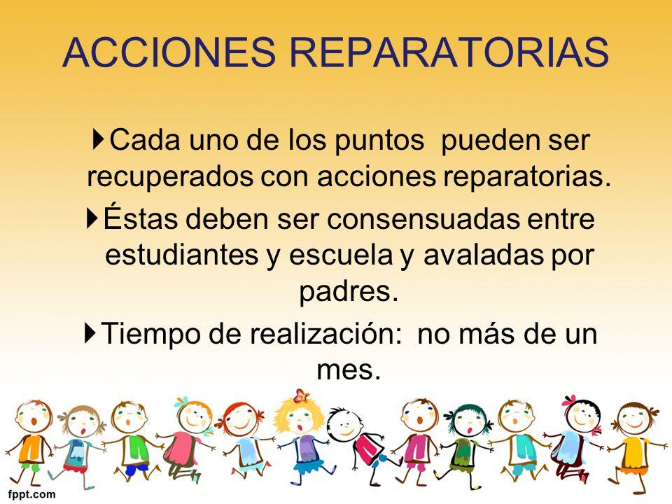 ACCIONES REPARATORIAS