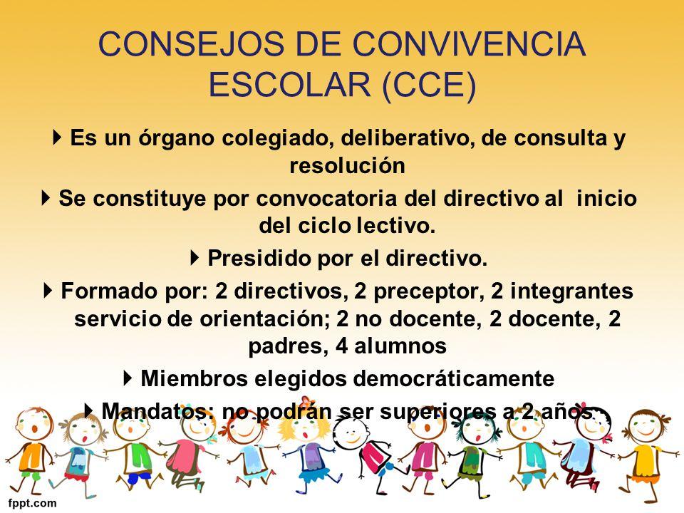 CONSEJOS DE CONVIVENCIA ESCOLAR (CCE)