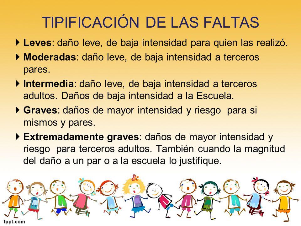 TIPIFICACIÓN DE LAS FALTAS