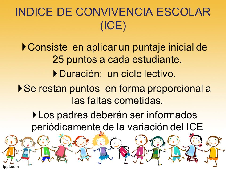 INDICE DE CONVIVENCIA ESCOLAR (ICE)