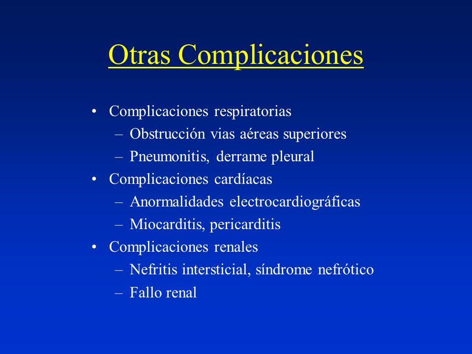 Otras Complicaciones Complicaciones respiratorias