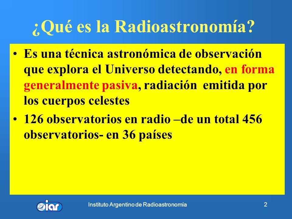 ¿Qué es la Radioastronomía