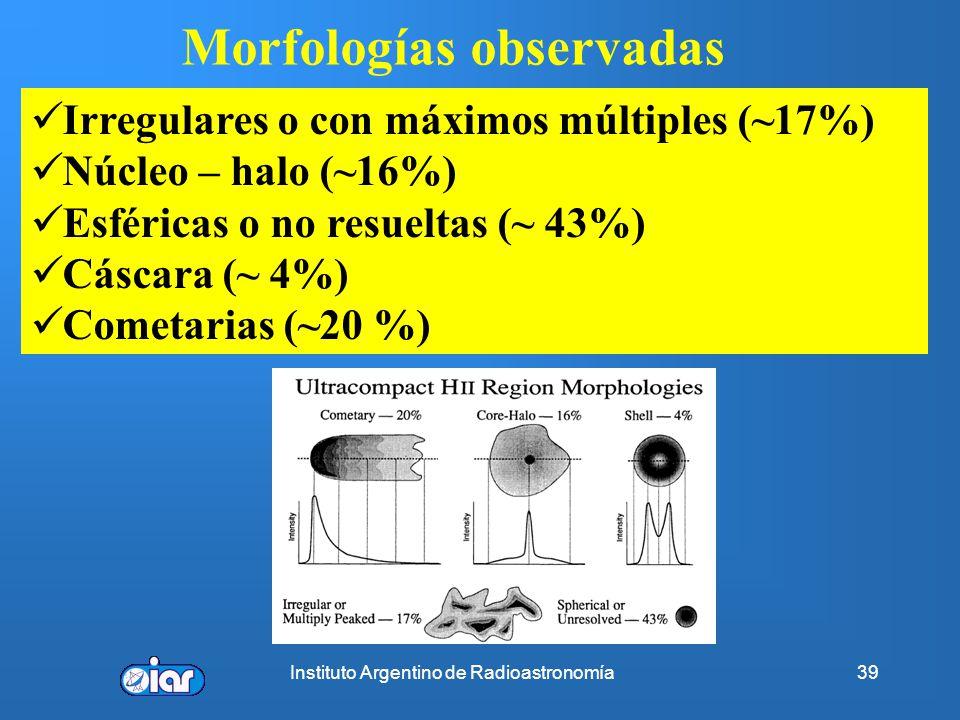Morfologías observadas