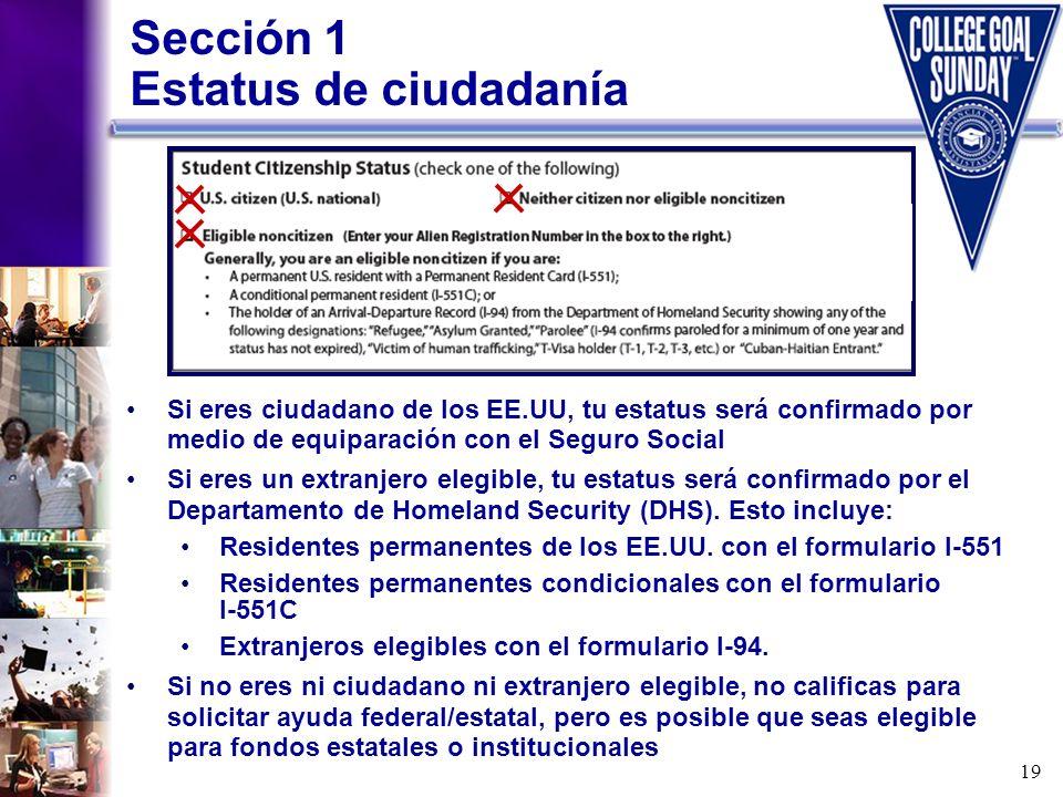Sección 1 Estatus de ciudadanía