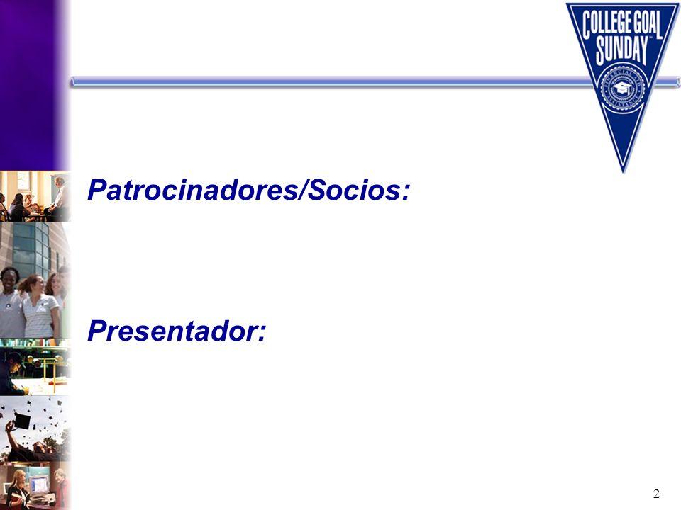 Patrocinadores/Socios: Presentador: