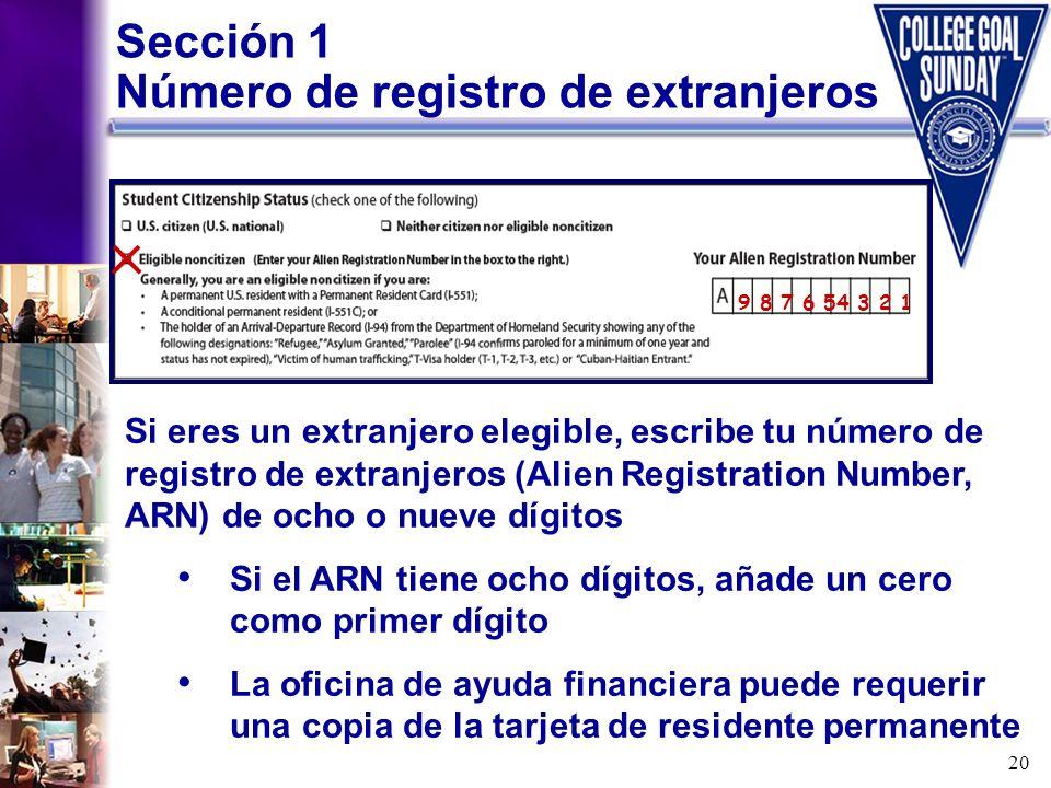 Número de registro de extranjeros