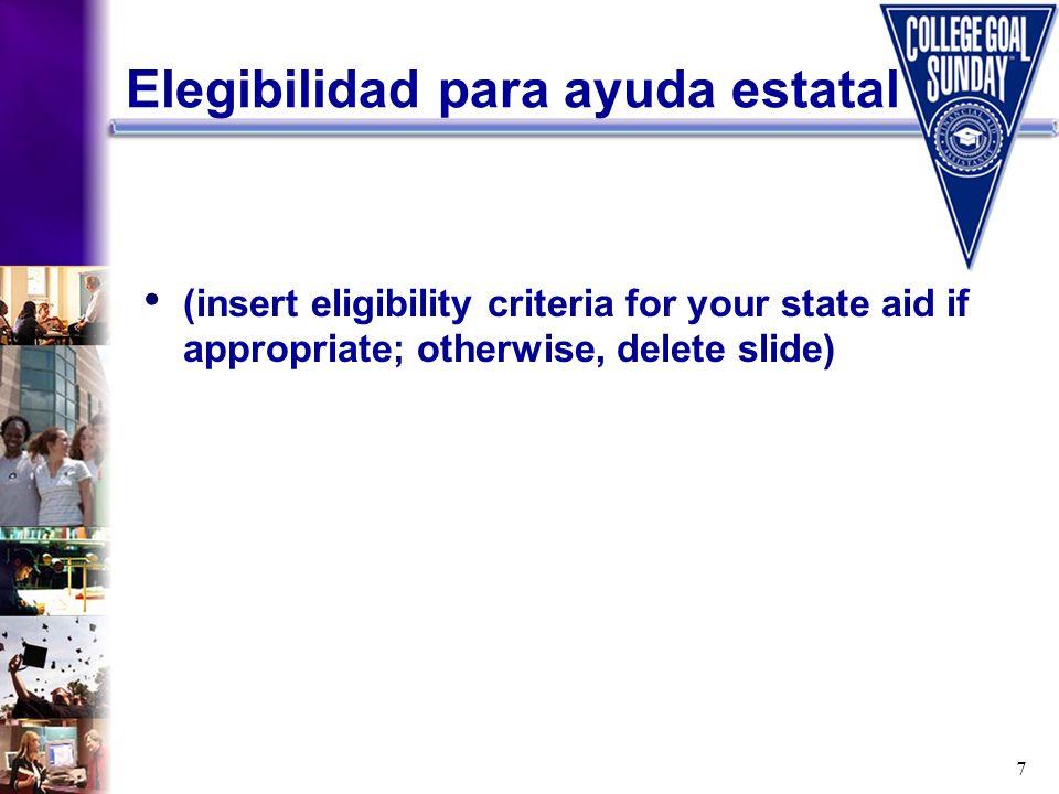 Elegibilidad para ayuda estatal