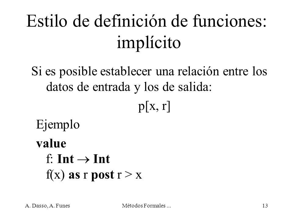 Estilo de definición de funciones: implícito