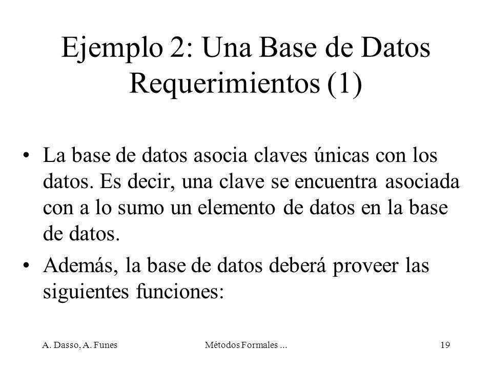 Ejemplo 2: Una Base de Datos Requerimientos (1)