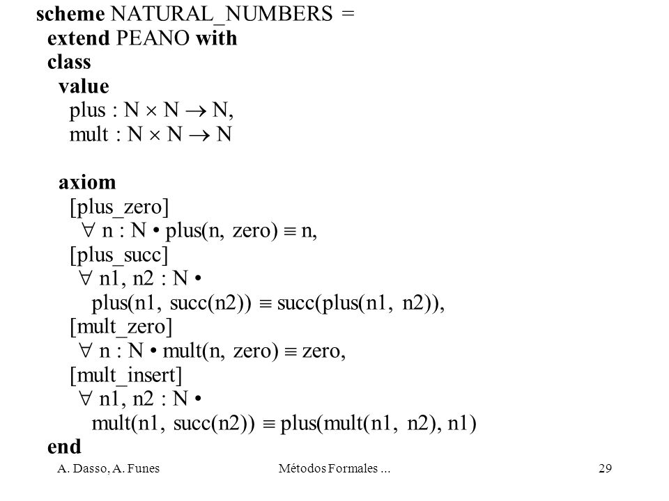 scheme NATURAL_NUMBERS = extend PEANO with class value
