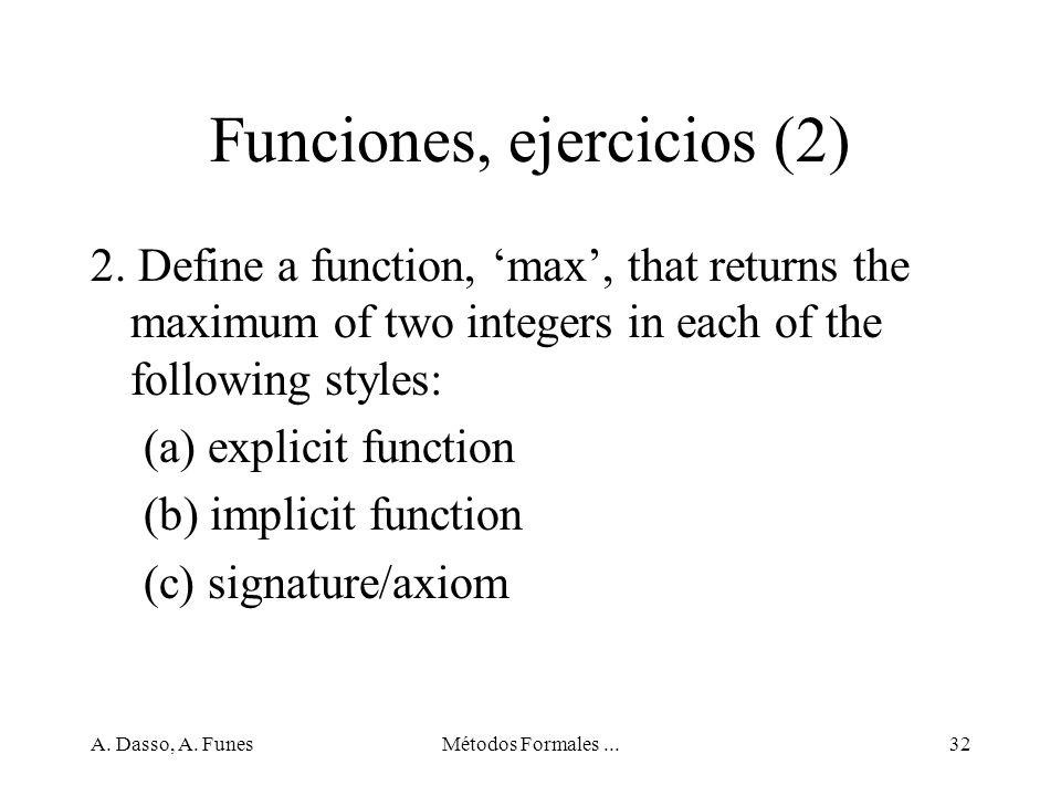 Funciones, ejercicios (2)