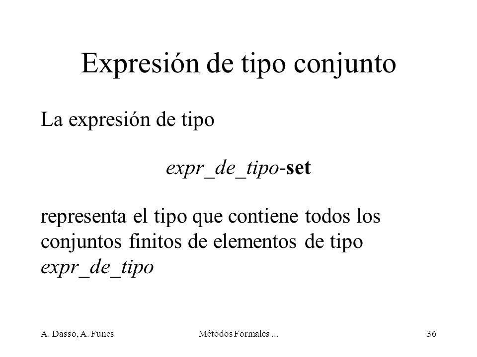 Expresión de tipo conjunto