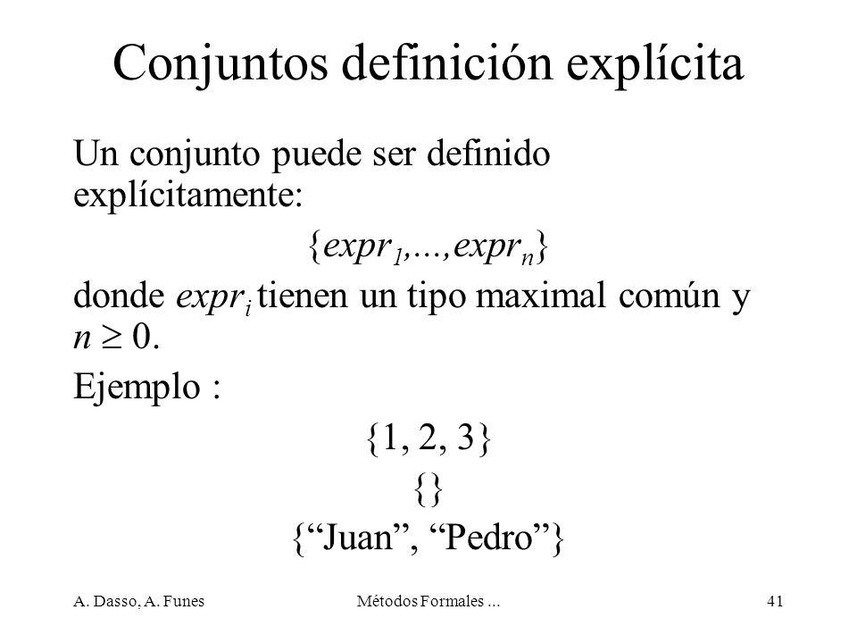 Conjuntos definición explícita