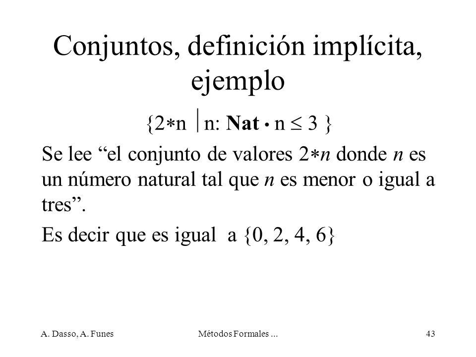 Conjuntos, definición implícita, ejemplo