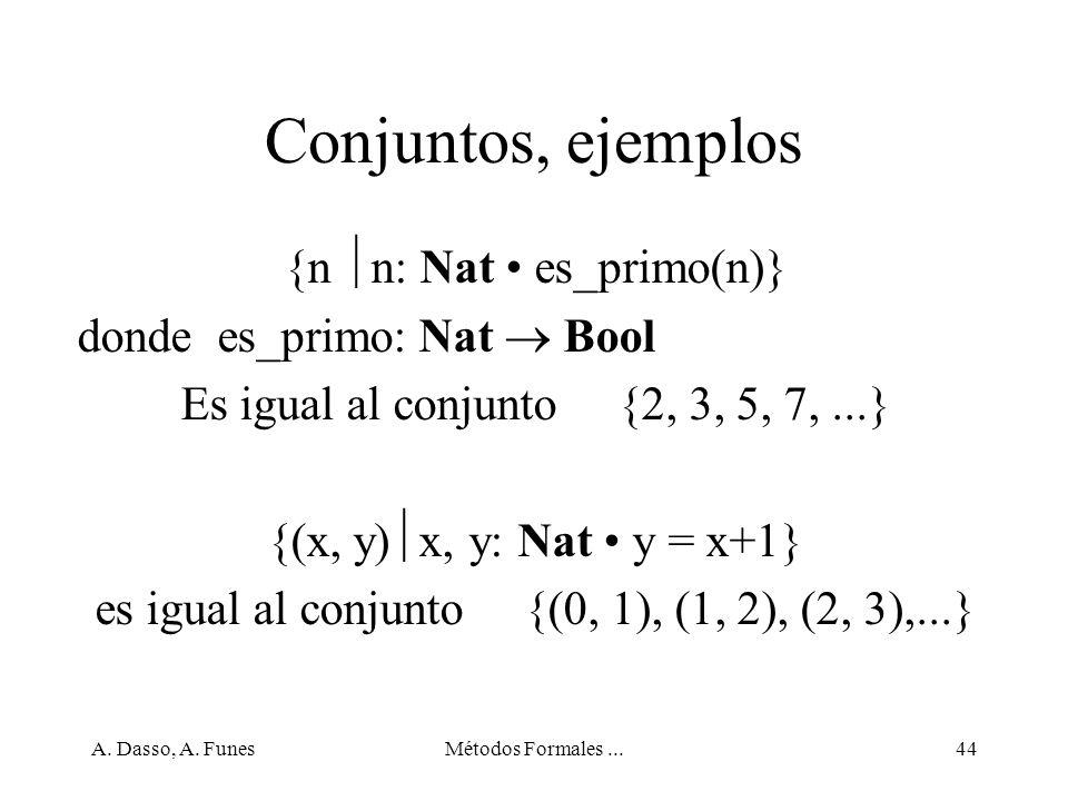 Conjuntos, ejemplos {n n: Nat • es_primo(n)}