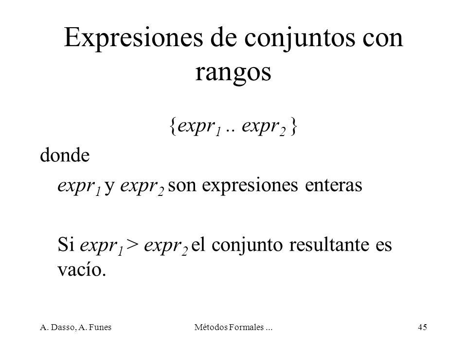 Expresiones de conjuntos con rangos