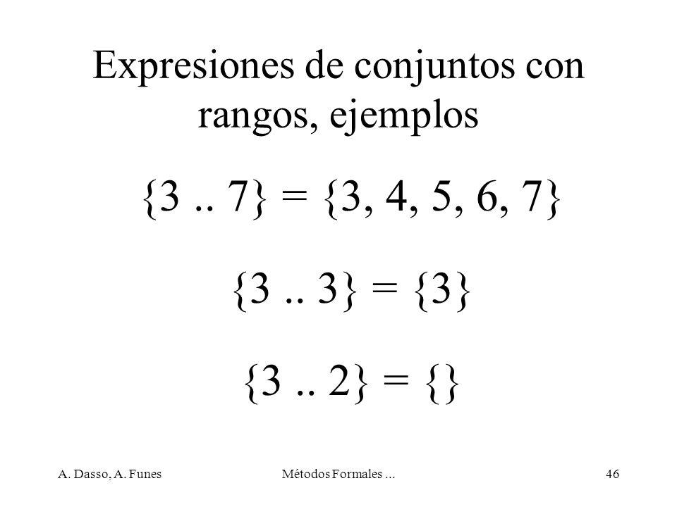 Expresiones de conjuntos con rangos, ejemplos