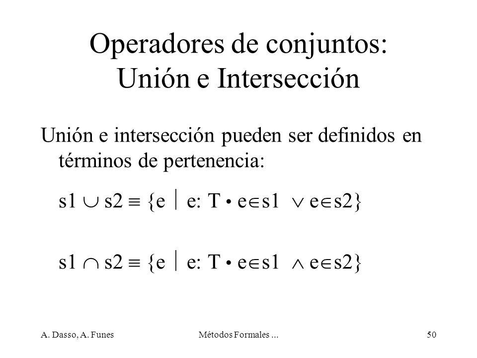 Operadores de conjuntos: Unión e Intersección