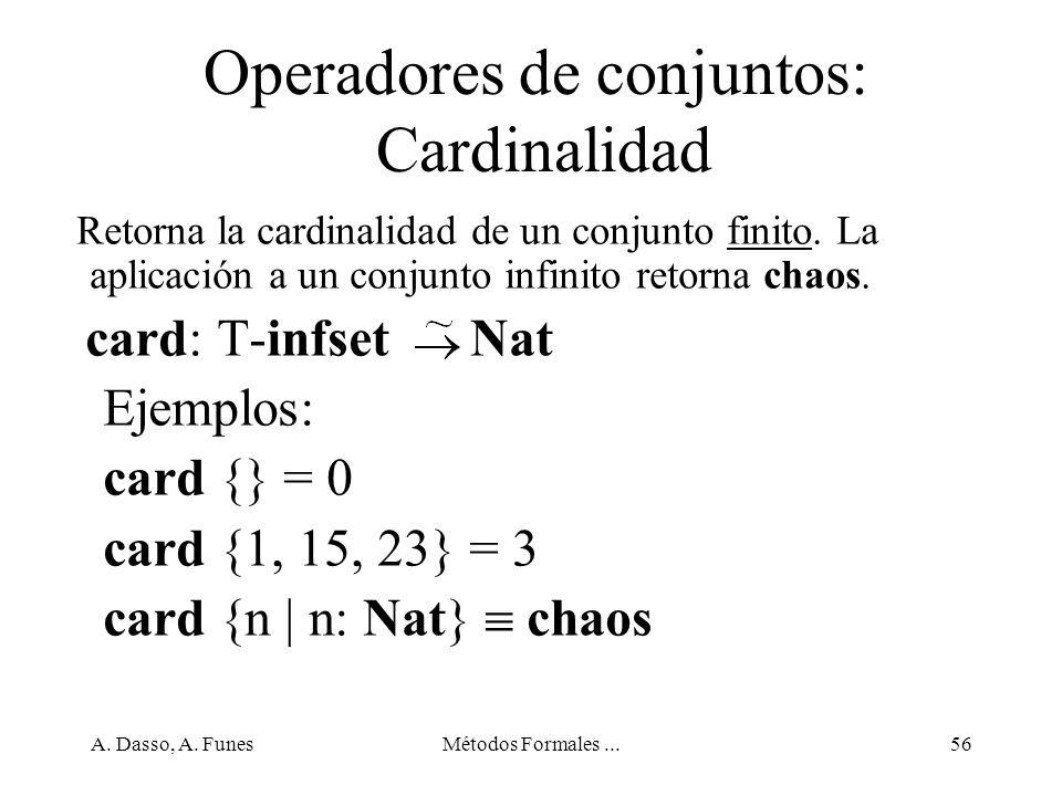 Operadores de conjuntos: Cardinalidad