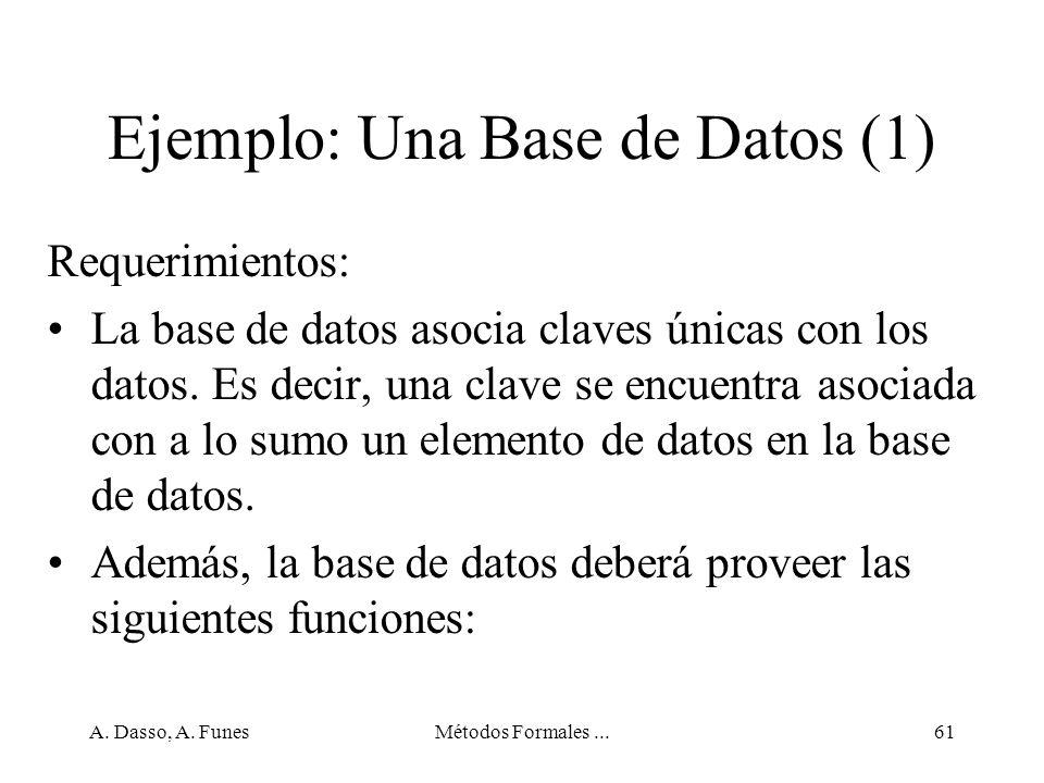 Ejemplo: Una Base de Datos (1)