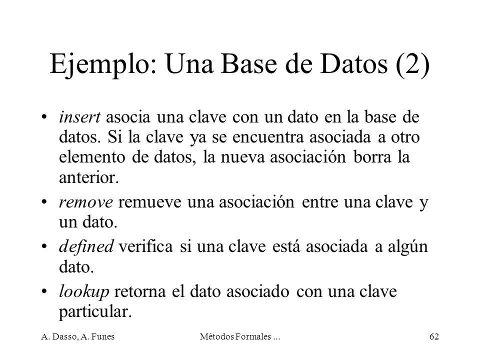 Ejemplo: Una Base de Datos (2)