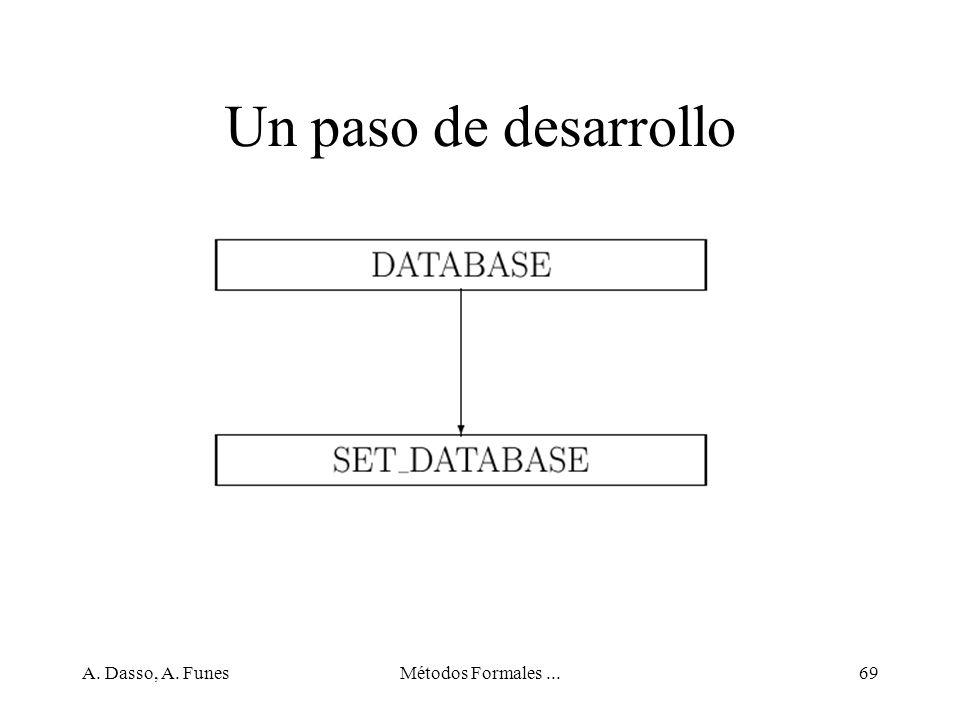 Un paso de desarrollo A. Dasso, A. Funes Métodos Formales ...