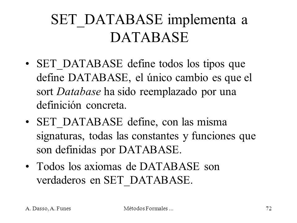 SET_DATABASE implementa a DATABASE