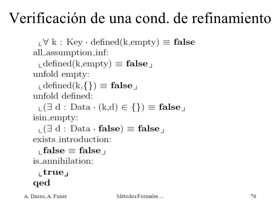 Verificación de una cond. de refinamiento