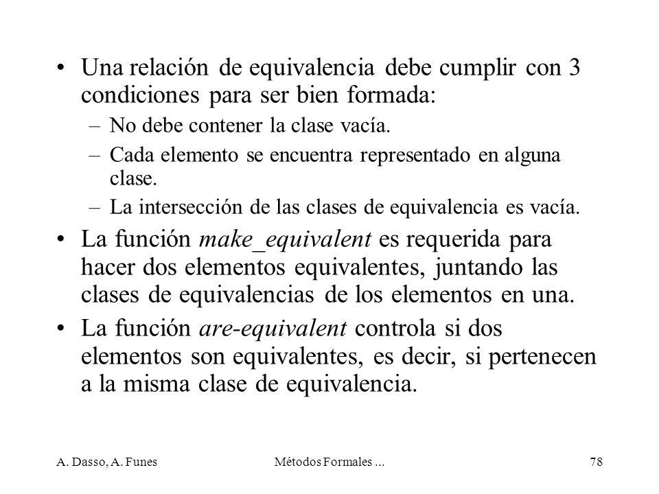 Una relación de equivalencia debe cumplir con 3 condiciones para ser bien formada: