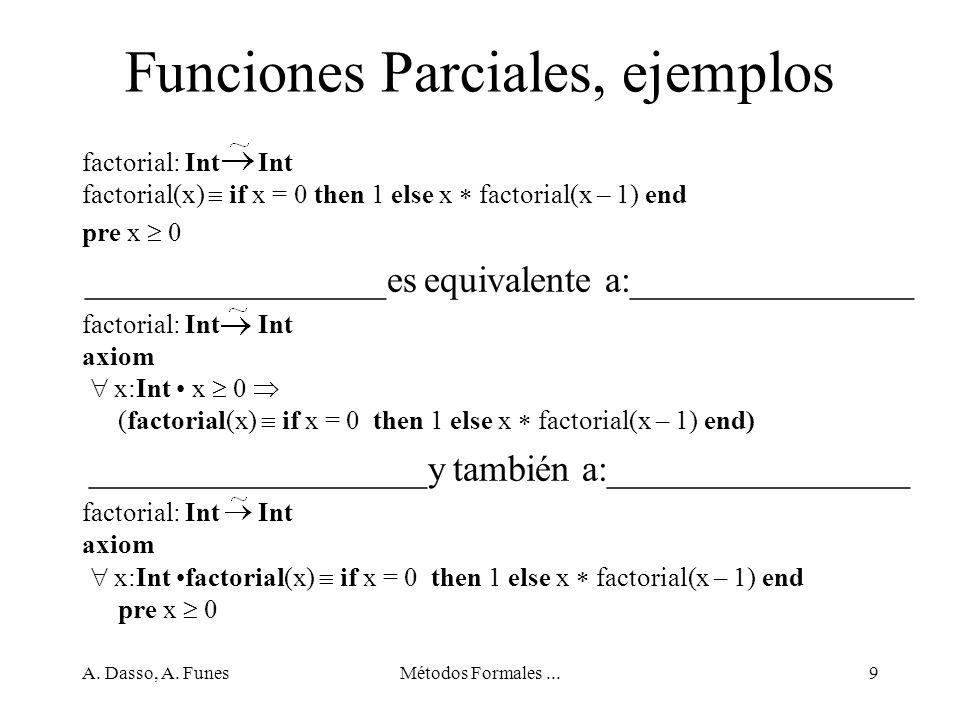 Funciones Parciales, ejemplos