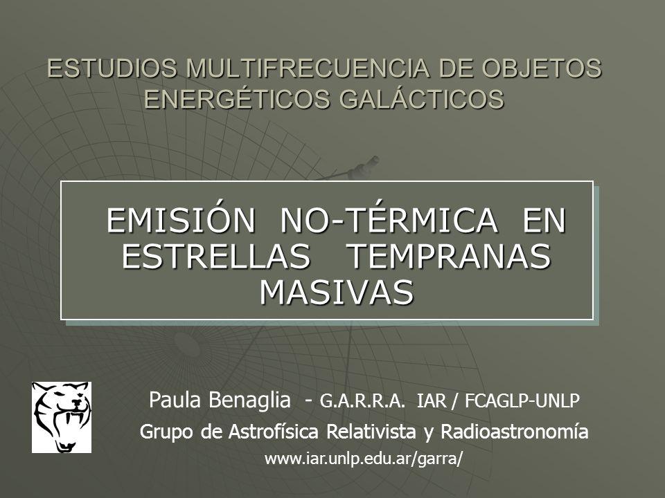 ESTUDIOS MULTIFRECUENCIA DE OBJETOS ENERGÉTICOS GALÁCTICOS