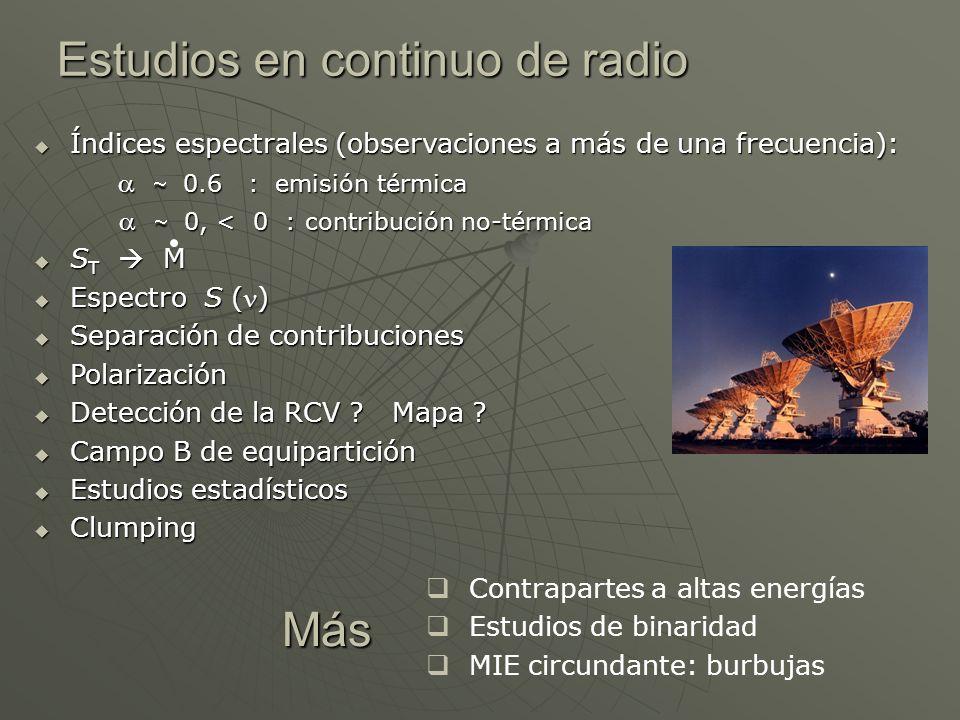 Estudios en continuo de radio