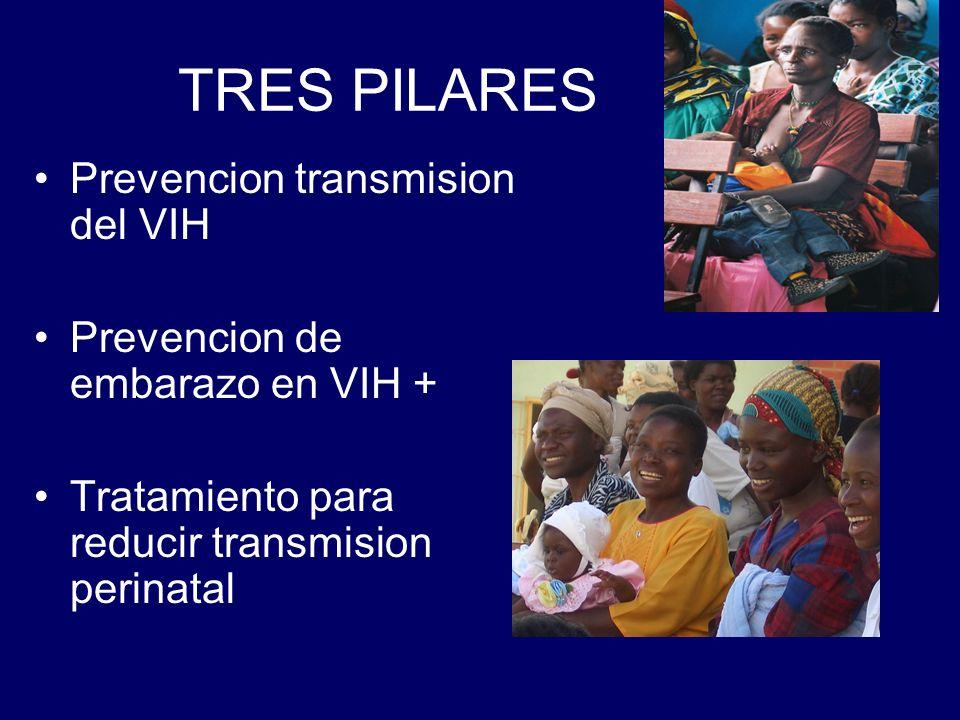 TRES PILARES Prevencion transmision del VIH