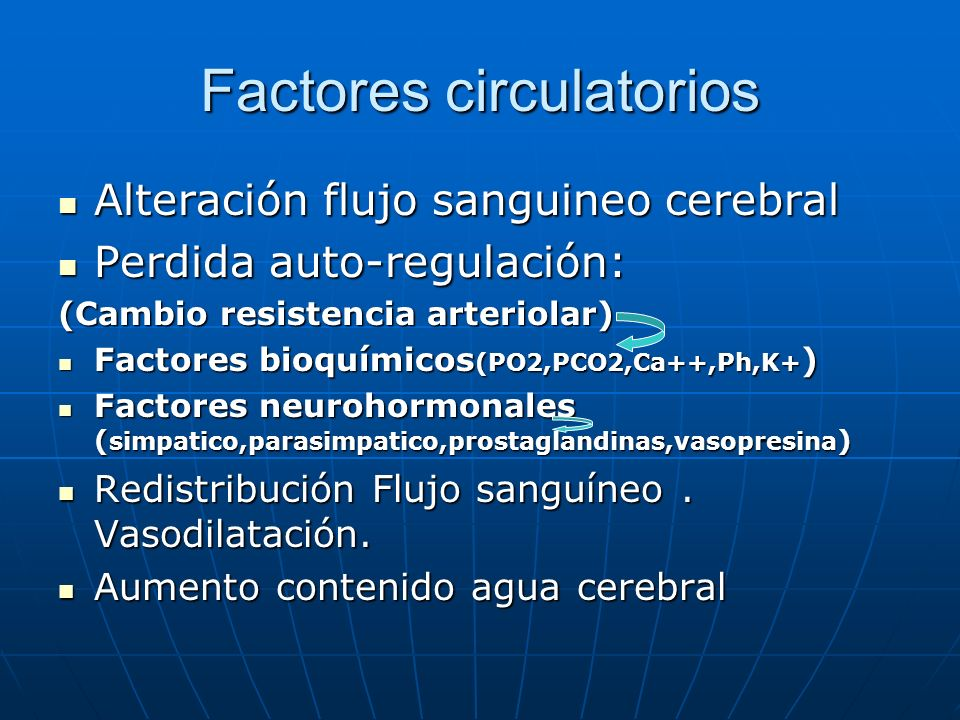 Factores circulatorios