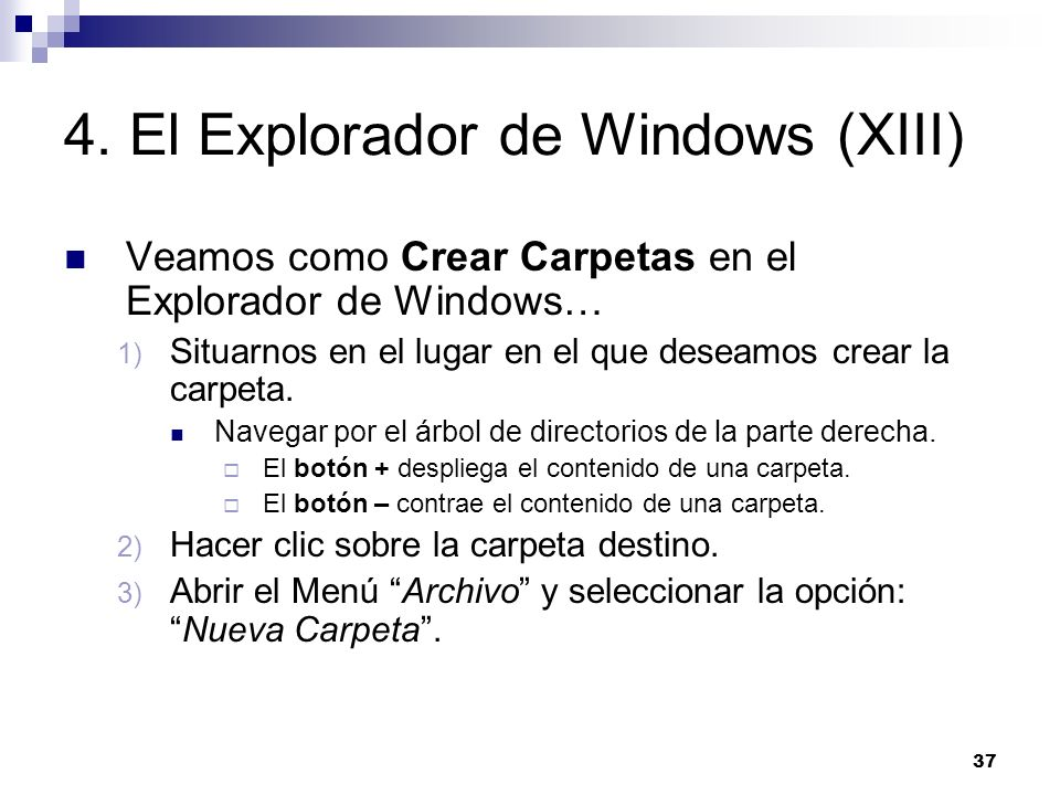 4. El Explorador de Windows (XIII)