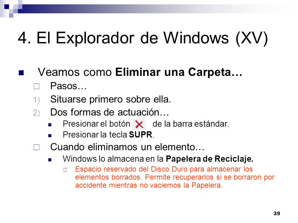 4. El Explorador de Windows (XV)