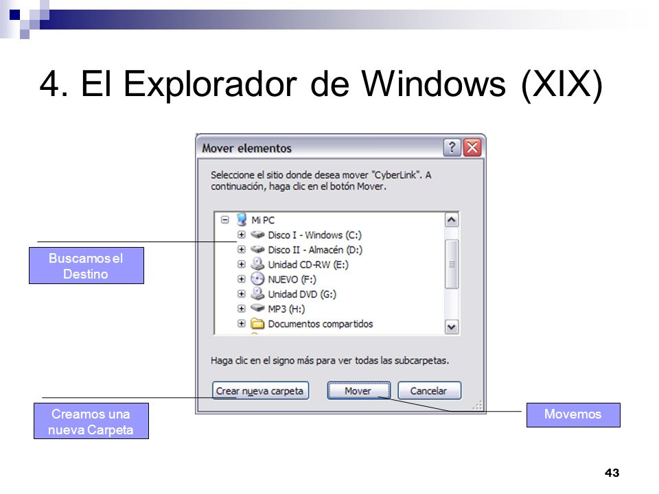 4. El Explorador de Windows (XIX)