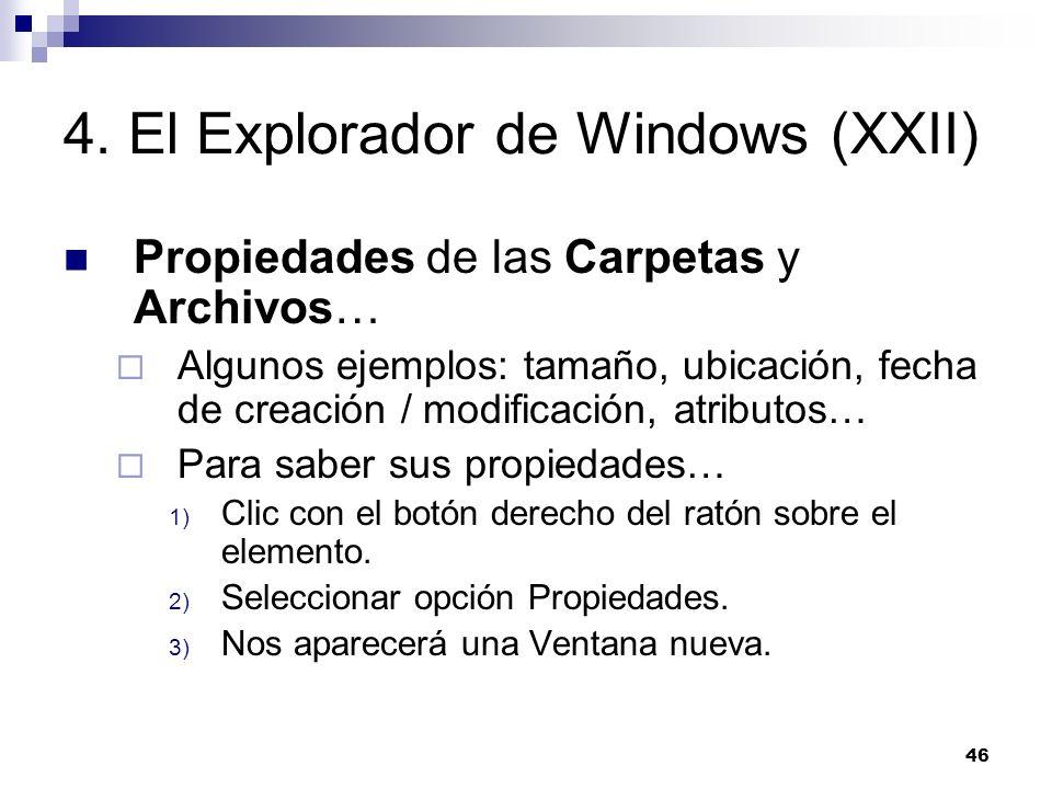 4. El Explorador de Windows (XXII)