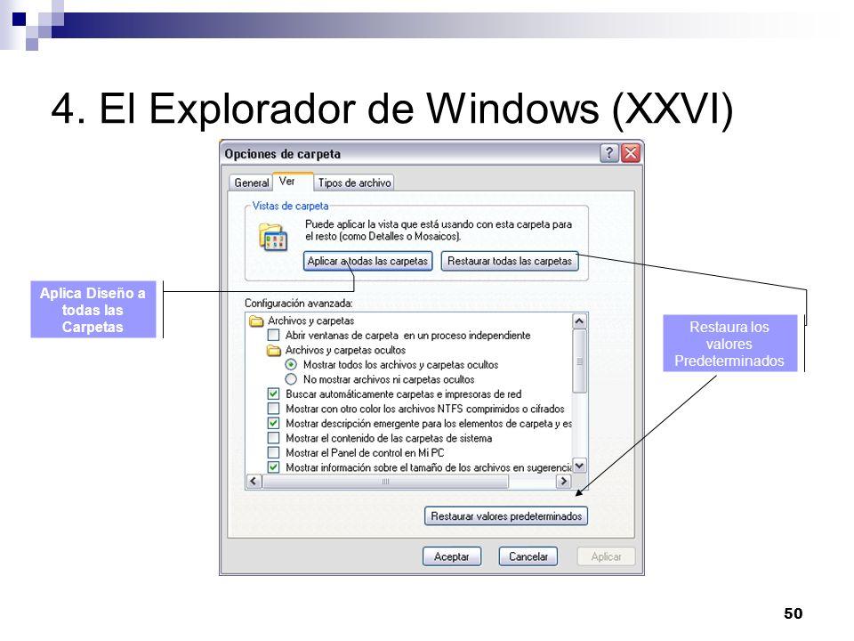 4. El Explorador de Windows (XXVI)