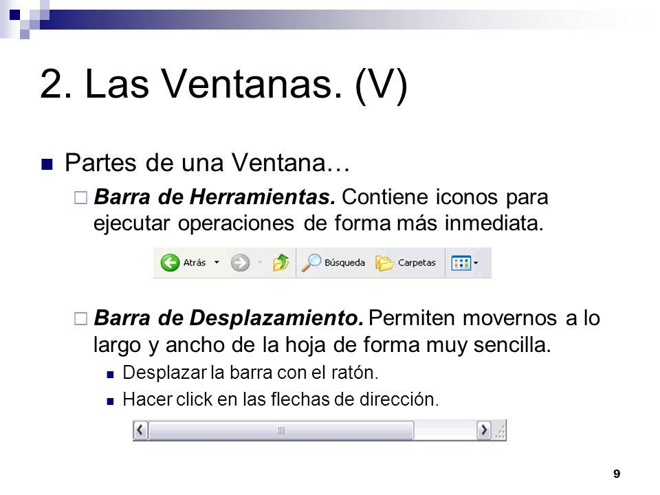 2. Las Ventanas. (V) Partes de una Ventana…