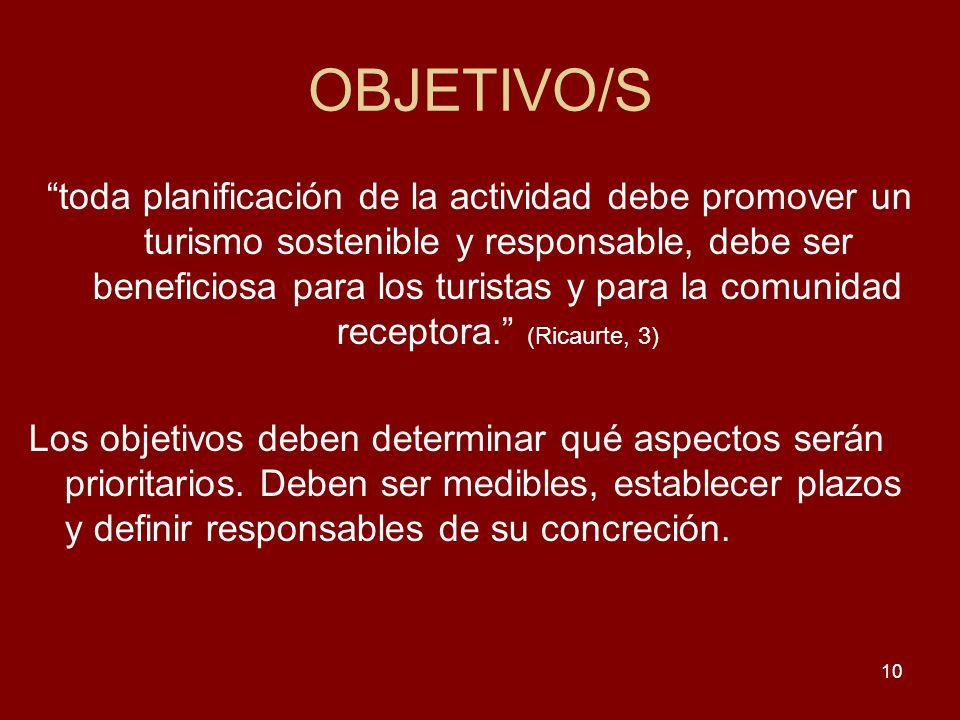 OBJETIVO/S