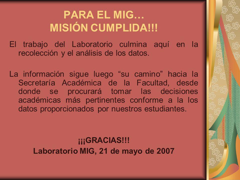 PARA EL MIG… MISIÓN CUMPLIDA!!!