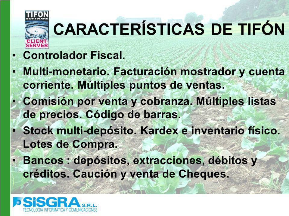 CARACTERÍSTICAS DE TIFÓN