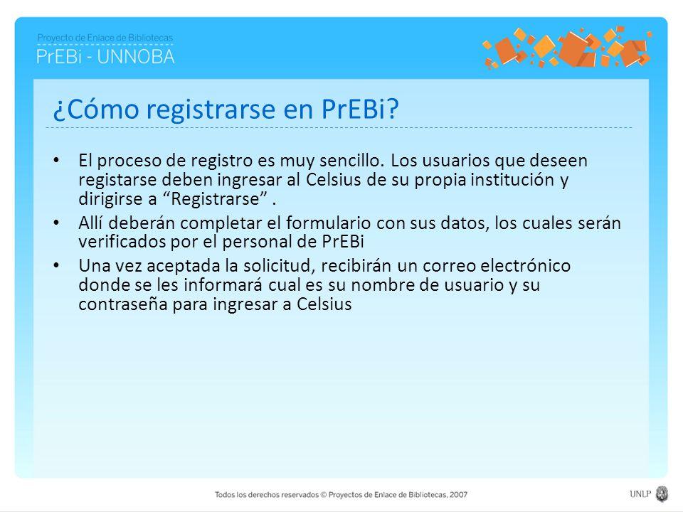 ¿Cómo registrarse en PrEBi