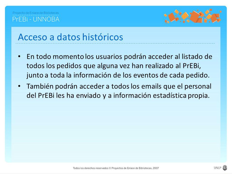 Acceso a datos históricos