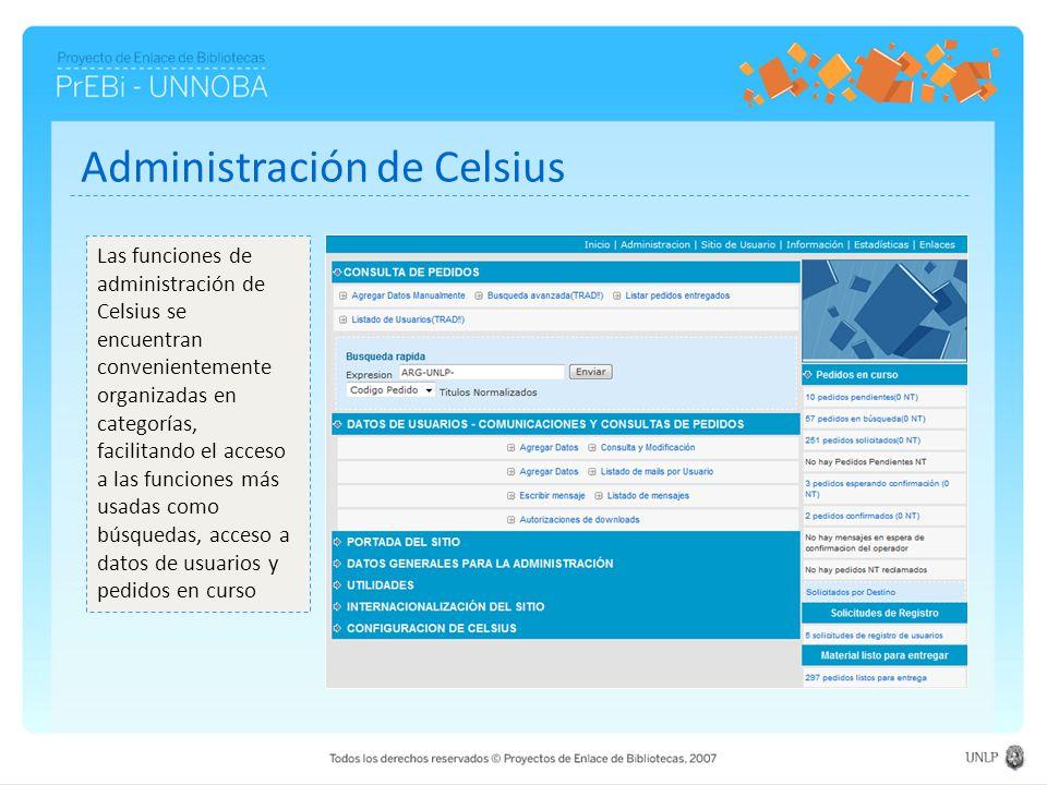 Administración de Celsius