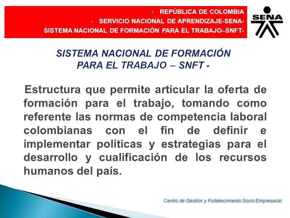 SISTEMA NACIONAL DE FORMACIÓN