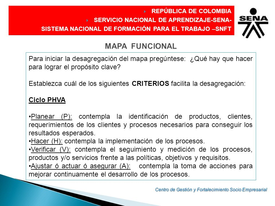 REPÚBLICA DE COLOMBIA SERVICIO NACIONAL DE APRENDIZAJE-SENA- SISTEMA NACIONAL DE FORMACIÓN PARA EL TRABAJO –SNFT.